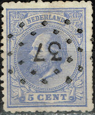 Netherlands King William lll C5 classic rare stamp 1872 Postmark 37 $20