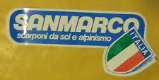 VECCHIO ADESIVO - SAN MARCO. SCARPONI DA SCI E ALPINISMO - ANNI 80 (CC2)