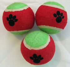Cat Toy - Christmas coloured Tennis Balls with Paw Prints - Set of 3