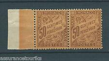 MONACO TAXE - 1905 Nº 7 - PAIRE TIMBRES NEUFS**