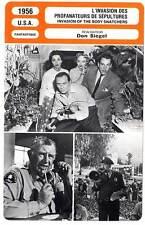 FICHE CINEMA : L'INVASION DES PROFANATEURS DE SEPULTURES - Don Siegel 1956
