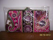 Vera Bradley Very Berry Paisley Clutch Wallet NWT