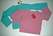 NWT New One Kid Boutique Long-sleeve LS Soft Comfy Pink Blue Shirt Lot 2 Sz 6