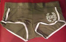 Victoria's Secret PINK Logo Boyshort Jade Green Panty Medium