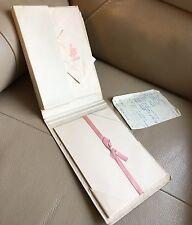 Rétro vintage 1960 s English rose parfumé Writing Set Papier Enveloppes Ancienne recette