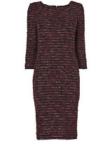 PHASE EIGHT DRESS PURPLE DAMSON BOUCLE WOOLLEN HARPER SIZE 8 10 12 14 16 RRP 110