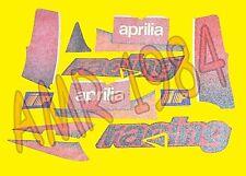 SERIE ADESIVI DECALCO CARENE LATERALI APRILIA RS 50 2002 NERO DIABLO  AP8627510