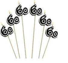 60th Milestone Candles on a Stick 60th Birthday Candles Cake Decorations 60 yr