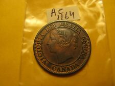 1859 Large cent Canada unusual 5 & 9  don't know which variety ID#AC1164