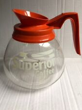Orange Decaf Superior 12 Cup Coffee Pot Commercial Glass Pot BUNN