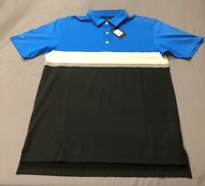 Dunning Golf Shirt Polo (L, Blue, Black, Striped)(NWT) MSRP $100