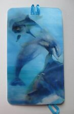 i Jumping Dolphin LENTICULAR 3d LUGGAGE TAG id suitcase bag ganz