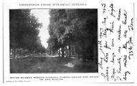 1907 Greetings from Winamac, IN South Market Street Postcard *5B