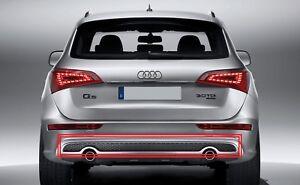 Nuovo Originale Audi Q5 09-16 Posteriore LINEA Paraurti Inserto Diffusore Doppia