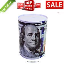 $100 Dollar Bill Piggy Bank 8.5 Tall Coin Saving Money Currency Benjamin Frankli