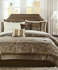 Addison Park Bellagio 9 Pc QUEEN Comforter Set BROWN A08019