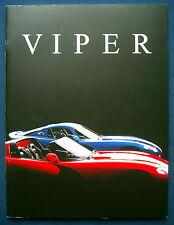 Prospekt brochure 1997 Chrysler Dodge Viper (USA) * PRESTIGE