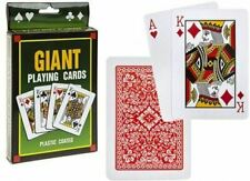 JUMBO LARGE PLAYING CARDS 12X17CM 54 CARDS DECK GAMES POKER FAMILY INDOOR