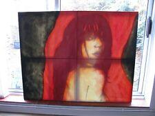 Huge Original, Signed, 4 Panel, Oil on Canvas, Reverse Painting, Philip Brereton