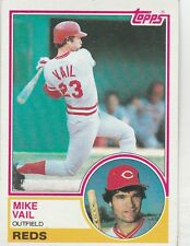 FREE SHIPPING-MINT-1983 (REDS) Topps #554 Mike Vail