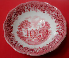 """J & G MEAKIN Romantic England  CEREAL BOWL 6 5/8"""" CHECQUERS"""