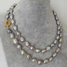 Jewelry 8-9mm Natural Gray Baroque Freshwater Pearl Necklace 18/25/36''