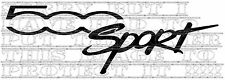 Pair Fiat 500 sport vinyl decals graphics colour choice 15x5cm each not stickers