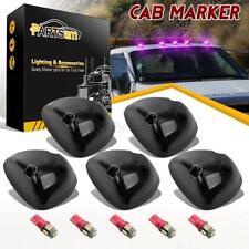 5xSmoke 264141BK Cab Roof Marker Lights+Purple 161 T10 5050 LEDs for Dodge 94-98