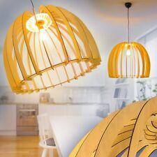 Lampe à suspension Plafonnier Retro Lustre Design Lampe de bureau Bois 163016