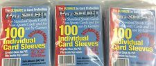 Pro-Select Single Card Soft Sleeves Pack(100)x100-WIDER OR GUERNSEY CRICKET CARD