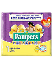 6 PAMPERS progressi NEW BORN pannolini TAGLIA 1. (2-5KG)