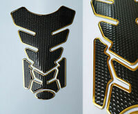 Tankpad Tankschutz Motorrad Carbon Optik Schwarz Gold universal Suzuki Yamaha