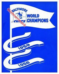NFL Baltimore Colts World Champions 1958 1959 Art 8 X 10 REPRINT Photo