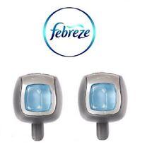New Febreze Linen & Sky Scent Car Vent Clips, Air Freshener,  (Pack of 2)