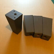 4x Ikea Legs Wood Dark grey color Furniture Sofa Armchair Replacement Couch Feet