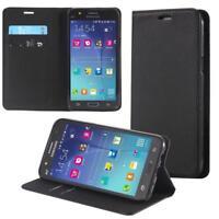 Custodia per Samsung Galaxy J7 (2017) Cover Case Portafoglio Wallet Etui Nero