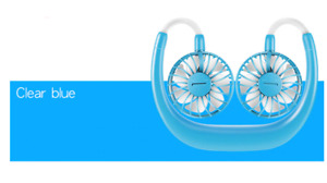 LED Portable Hanging Neck Sport Fan Lazy Neckband USB Rechargeable Personal Fan