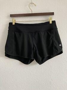 Lululemon Speed Shorts Size 6 Black Lined Shorts