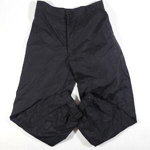NEW Roffe Ski Snowboard Pants Mens Large Black Nylon NOS 41124 R2020 Side Zippe