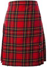 12oz Wool Ladies Knee Length Kilt Royal Stewart Tartan