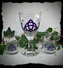 CALICE e portacandele wicca pagano Altare triquetre Hand-digiuno Yule Regalo