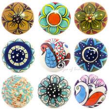 Ceramic Cabinet Cupboard Door Dresser Knobs Pulls Decorative Shabby Chic Colorfu