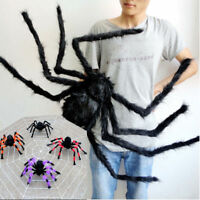 Colorful &Black Giant  Spider Halloween Decor Haunted House Prop Indoor Outdoor