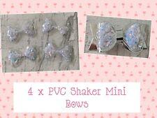 """4pcs Plastic Shaker Mini Bows 1.5"""" Christmas Embellishments  Cardmaking Bows"""