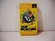 Super Mario Bros 4 Super Mario World Nintendo Super Famicom SFC Jap