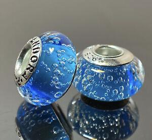2Pcs Genuine Pandora Sterling Silver Murano S925 ALE Beads Charm # K452~65