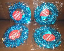 Light Blue Sequin Wreath Gift, or Christmas Decoration - Set of 4