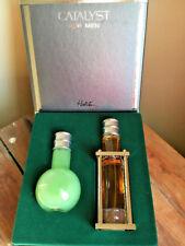 Catalyst For Men By Halston Gift Set NIB Moisture 3.4  & Eau De Toilette 1.7oz
