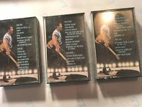 Bruce Springsteen Collection of SIX cassette tapes (used) Very Good condition!