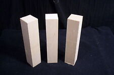 """3 Piece Basswood Carving Blanks 1 3/4 x 1 3/4 x 8 1/2"""" Craft Hobby Lumber"""